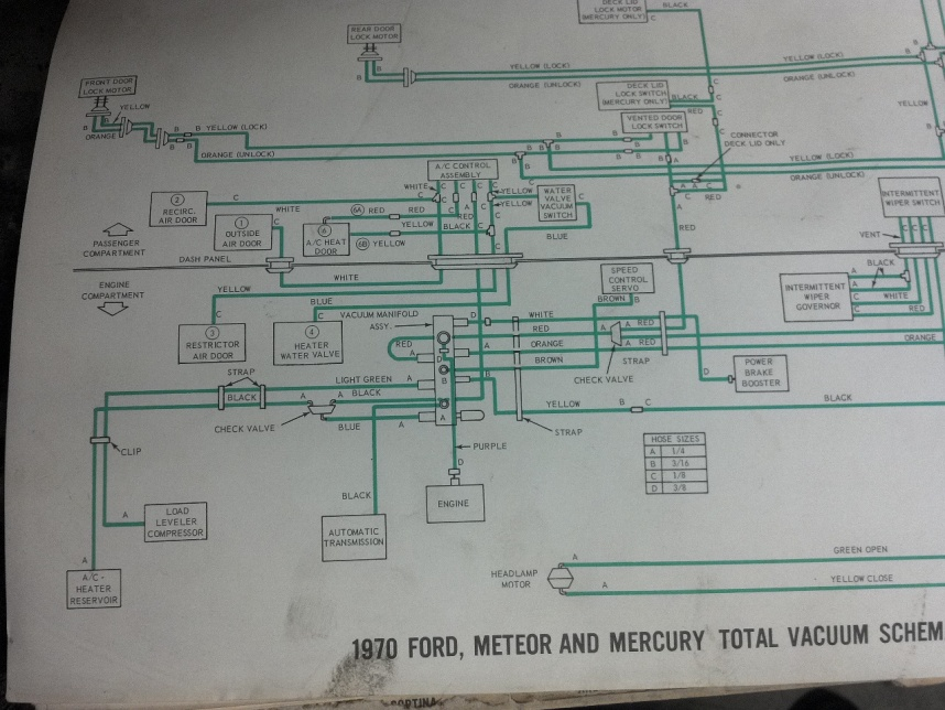1969 Galaxie Vacuum Diagram