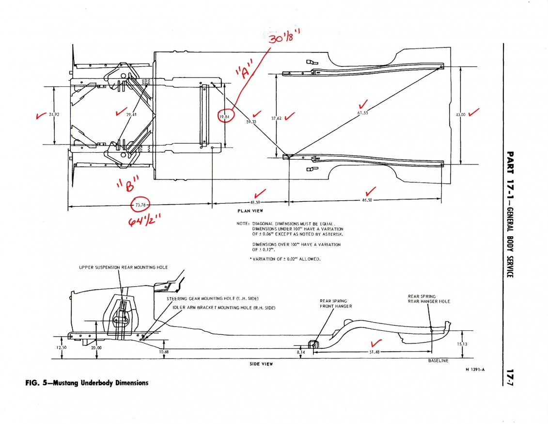 1965 Mustang Underbody Dimensions Accuracy Ford Muscle