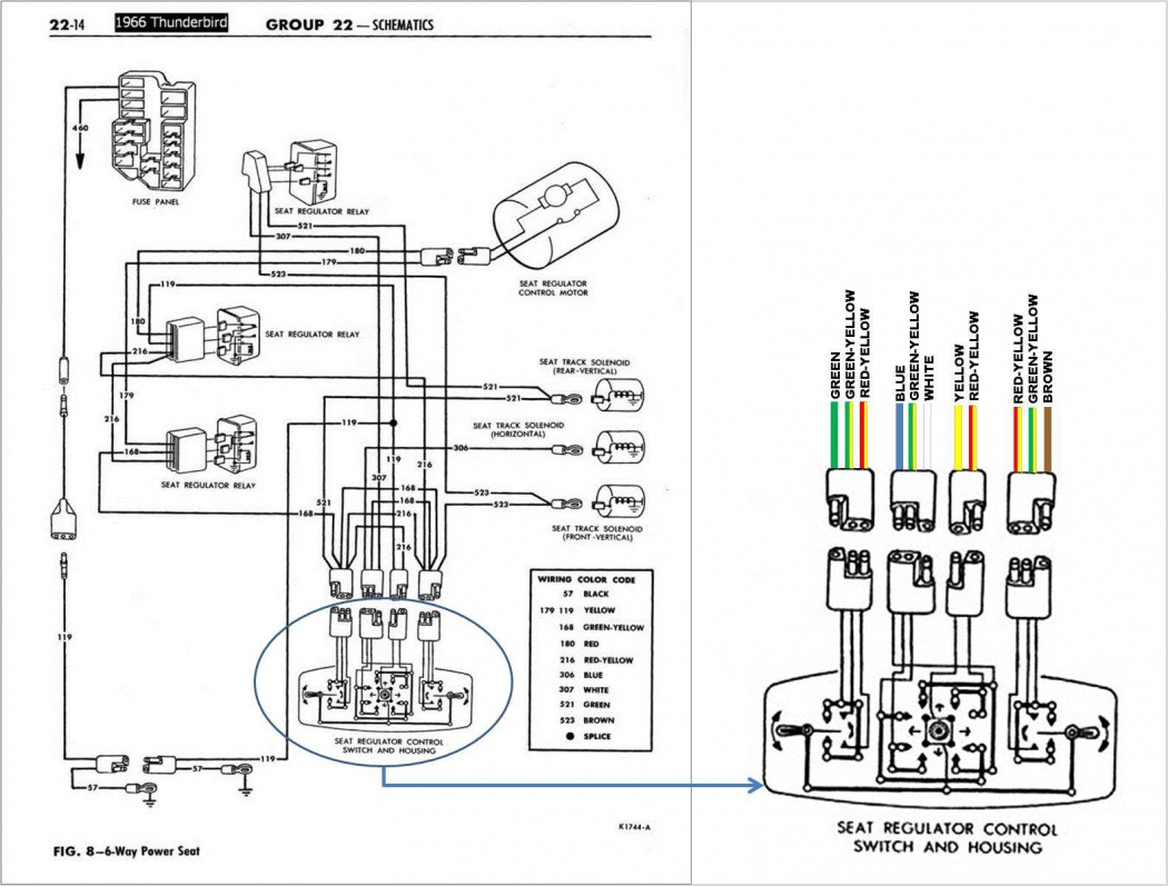 1966 Ford Ltd Wiring Diagram Library Galaxie 500 Click Image For Larger Version Name 6 Way Seat Schematic