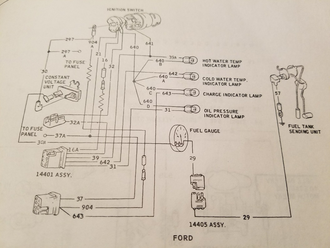Fuel Gauge Was Not Working Ground Ford Muscle Cars Tech Forum