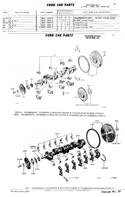 1964 falcon - how can i tell what inline 6 i have