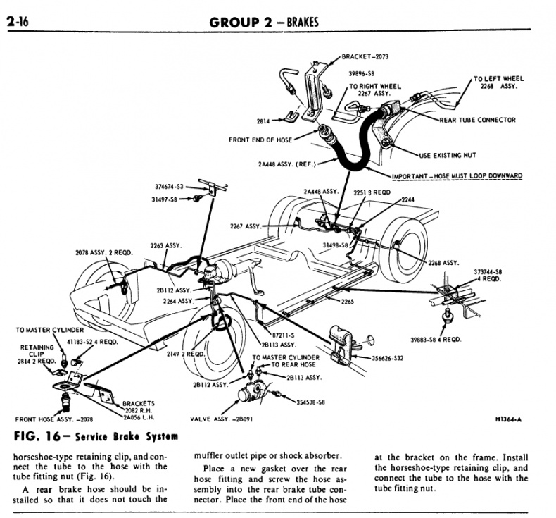 1966 Mustang Brake And Fuel Line Diagram Ford Forum