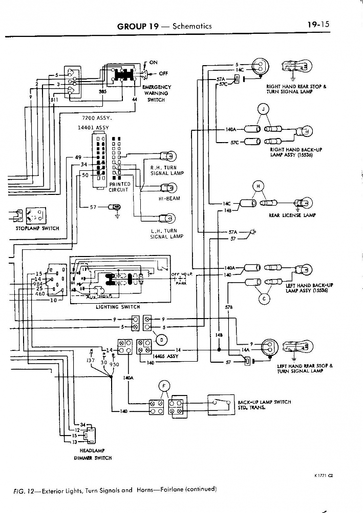 Back Up Lights Diagram 68 Torino
