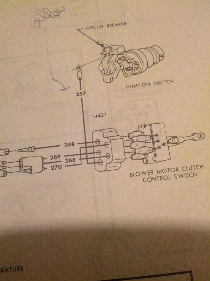 68 Galaxie 302 Ac Blower Circuit Breaker