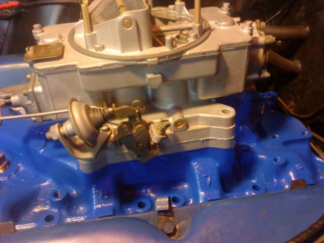 Intake to Carb spacer? - Ford Muscle Forums : Ford Muscle Cars Tech