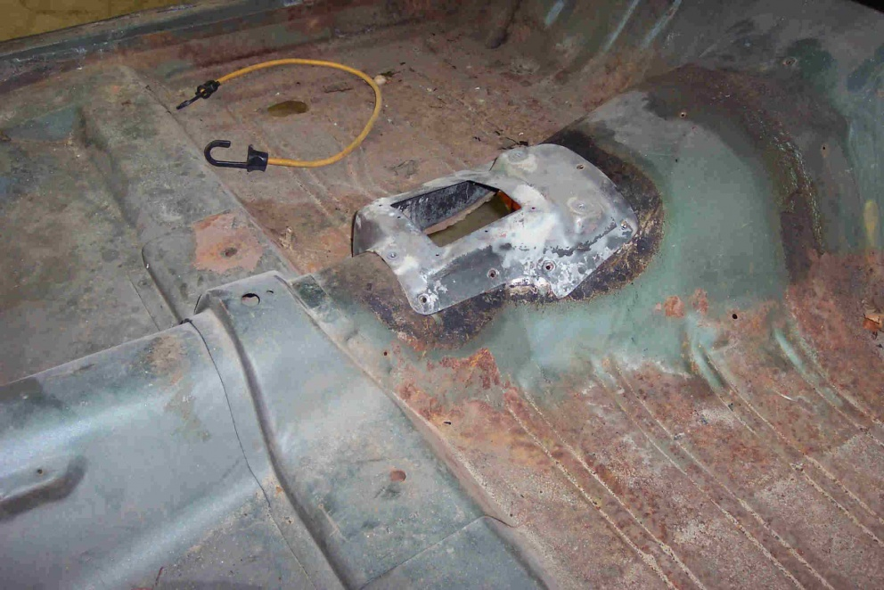Floor Wire Locator : Speedometer cable hole location ford muscle forums
