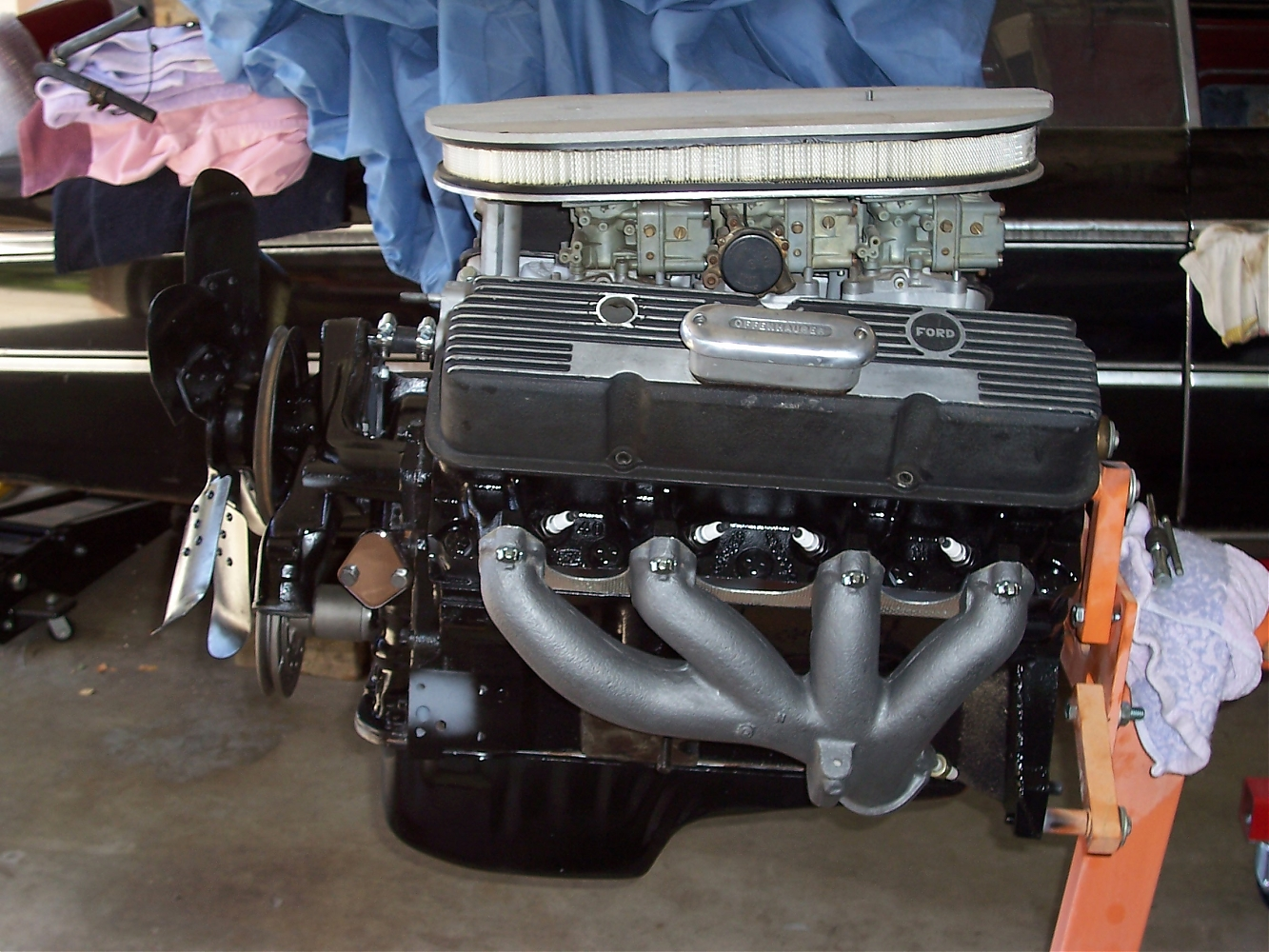 My 390 with Tri-Power and Shorty Headers - Ford Muscle Forums : Ford