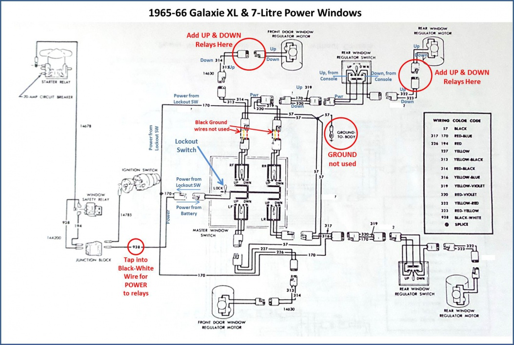 1966 thunderbird wiring diagram