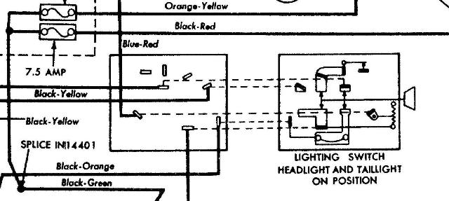 headlight switch wiring
