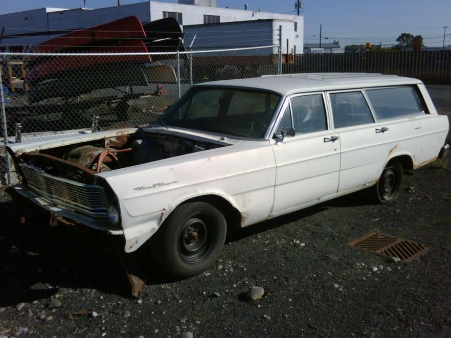 1965 Galaxie Ranch Wagon Parts Car Mostly Dissasembled