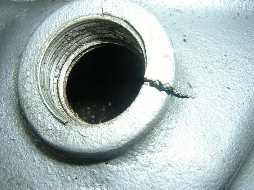 crack intake manifold
