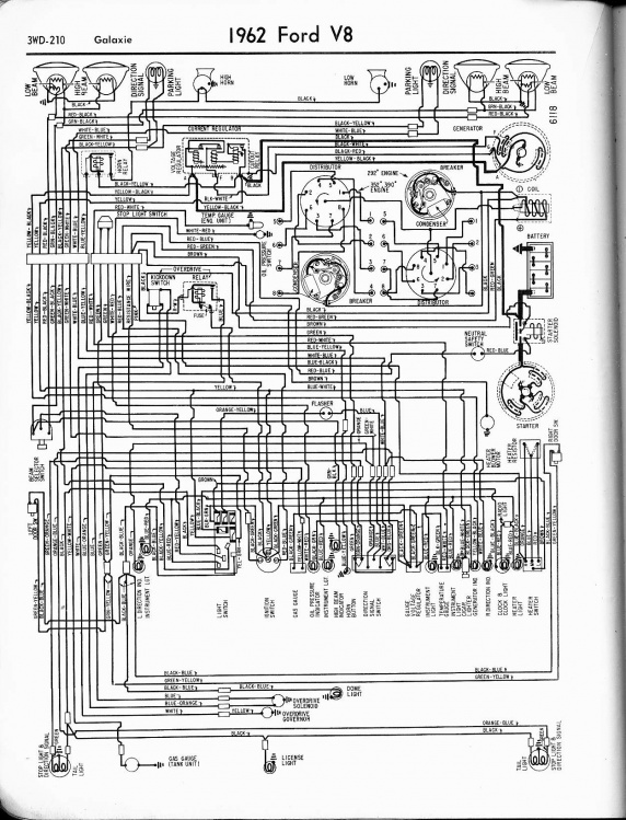 1962 ford falcon wiring diagram additionally 1962 ford galaxie rh sellfie co  1962 ford galaxie 500 wiring diagram