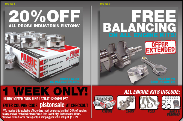 Coast High Performance >> Coast High Performance 20 Off All Probe Industries Pistons Ford