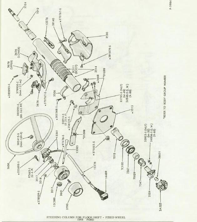 1970 Ford Truck Steering Column Wiring Diagram - Wiring