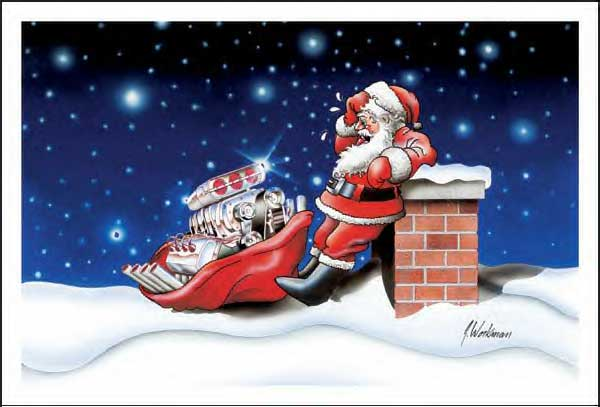 Muscle Car Christmas Cards