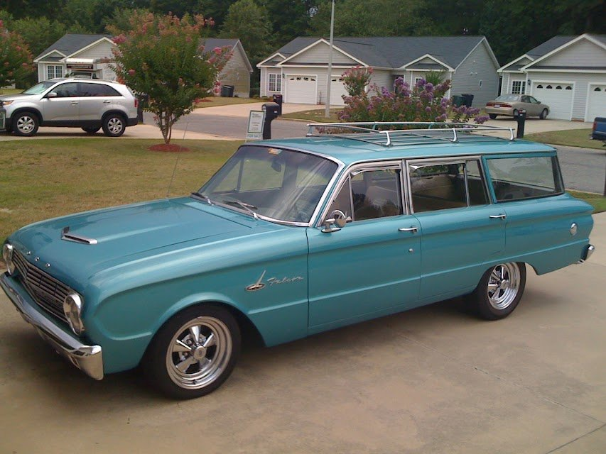 Which wheel you guys like for my 63 Wagon? | Ford Muscle